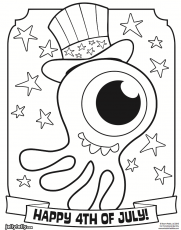fourth of july printable coloring pages