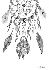 Dreamcatcher Coloring Page Page 1