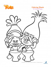 Trolls coloring sheets and printable activity sheets and a movie ...