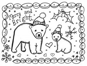 8 Best Images of Printable Christmas Cards To Color - Free ...