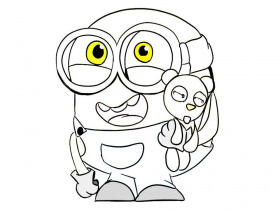 Minion Coloring Pages Bob | Free Coloring Pages