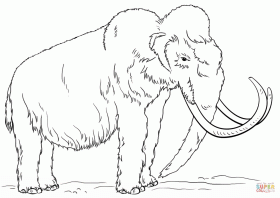 Woolly Mammoth coloring page | Free Printable Coloring Pages