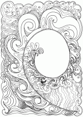 Koru hand-drawn in ink | Wildersoul.Colouring.Book