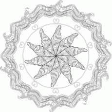 Wish-Fulfilling Jewel Coloring Page