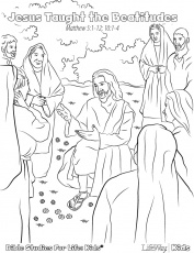beatitudes coloring pages