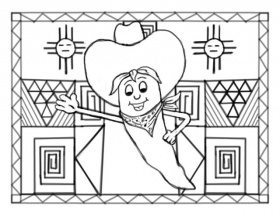 New Mexico Chile Pepper' Coloring Page | The digital downlo… | Flickr