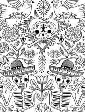 Day Of The Dead Skull Free Coloring Pages - Coloring Page