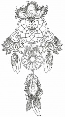 Dreamcatcher Coloring Pages | Dream Catchers ...