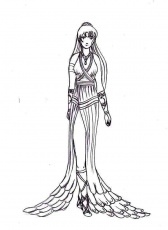 A Manga Figure Of Queen Goddess Hera Coloring Page