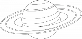 Planet Saturn Coloring Page Space Coloring Home Saturn Coloring Page