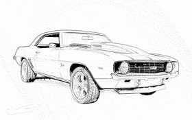 sports car coloring pages - Printable Kids Colouring Pages