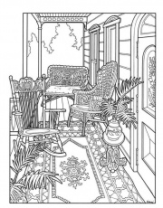 porch coloring pages