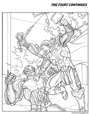 The Fight Continues Avengers Coloring Pages Printable