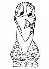 Coloring Page front of pelican - free printable coloring pages