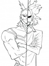 All Might in My Hero Academia Coloring Page - Free Printable Coloring Pages  for Kids