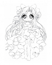 Anime Chibi Princess Coloring Pages - Coloring Pages For All Ages