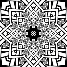fractal coloring pages printable coloring pages 17025 - Fractal Coloring Book