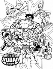 Superhero Squad Coloring Pages marvel super hero squad attacking ...