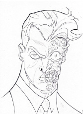 two face coloring pages high quality coloring pages - Two Face Coloring Pages