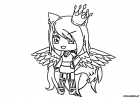 Anime Gacha Life Coloring Pages Coloring And Drawing
