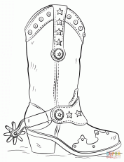 Cowboy Boot Coloring Page