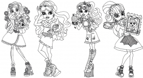 Monster High Coloring Pages and Book | UniqueColoringPages - Monster High Coloring Pages