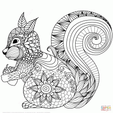 Lovely Horse Zentangle coloring page | Free Printable Coloring Pages