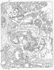 Detailed Fairy Printable Coloring Pages - High Quality Coloring Pages