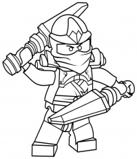 Lego Ninjago Blue Ninja Coloring Pages - High Quality Coloring Pages