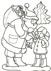 Little Girl With Ornaments For Christmas Coloring Page | Christmas ...