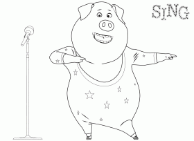 Buster sing movie coloring page coloring home for Sing movie coloring pages