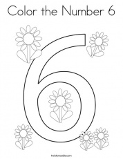 Color the Number 6 Coloring Page - Twisty Noodle