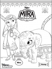 Mira coloring pages