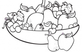Fruit Basket Coloring Sheet