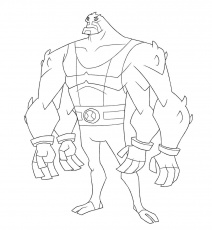 Printable Ben 10 Coloring Pages Four Arms to Print Pictures -  Ecolorings.info
