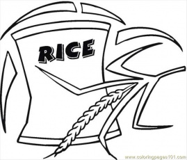 Rice 4 Coloring Page - Free Breakfast Coloring Pages : ColoringPages101.com