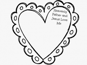 Jesus Loves Me Coloring Page - Coloring Pages for Kids and for Adults