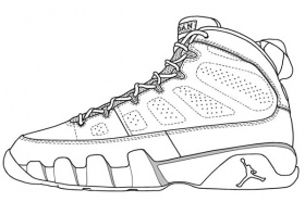 Jordan Shoe - Coloring Pages For Kids And For Adults ...