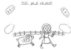 Mary Had A Little Lamb Coloring Page  Free Printable Coloring