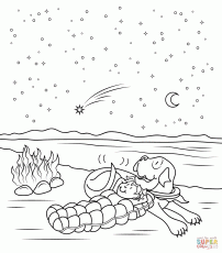 Henry And Mudge and The Starry Night coloring page | Free ...