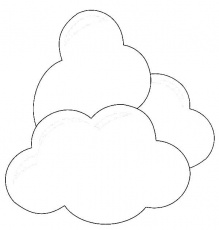 Clouds Coloring Page for Kids - NetArt