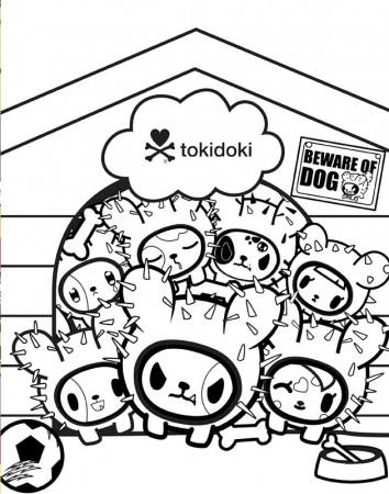 tokidoki coloring pages everything tokidoki donutella coloring