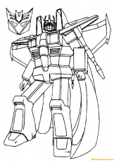Star Scream Transformers Coloring Page - Free Coloring Pages Online