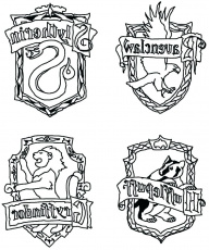 Ravenclaw Crest Coloring Pages at GetDrawings | Free download