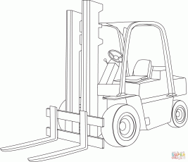 Forklift coloring page | Free Printable Coloring Pages