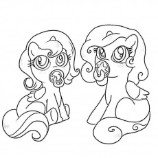 Of Ponies - Coloring Pages for Kids and for Adults