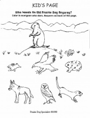 prairie animals coloring pages