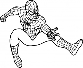 print free coloring pages spiderman