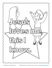 Coloring Pages: Jesus Loves Me Coloring Sheet Jesus Coloring Pages ...