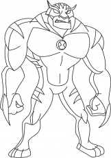 Simple Way to Color Ben 10 Coloring Pages - Toyolaenergy.com
